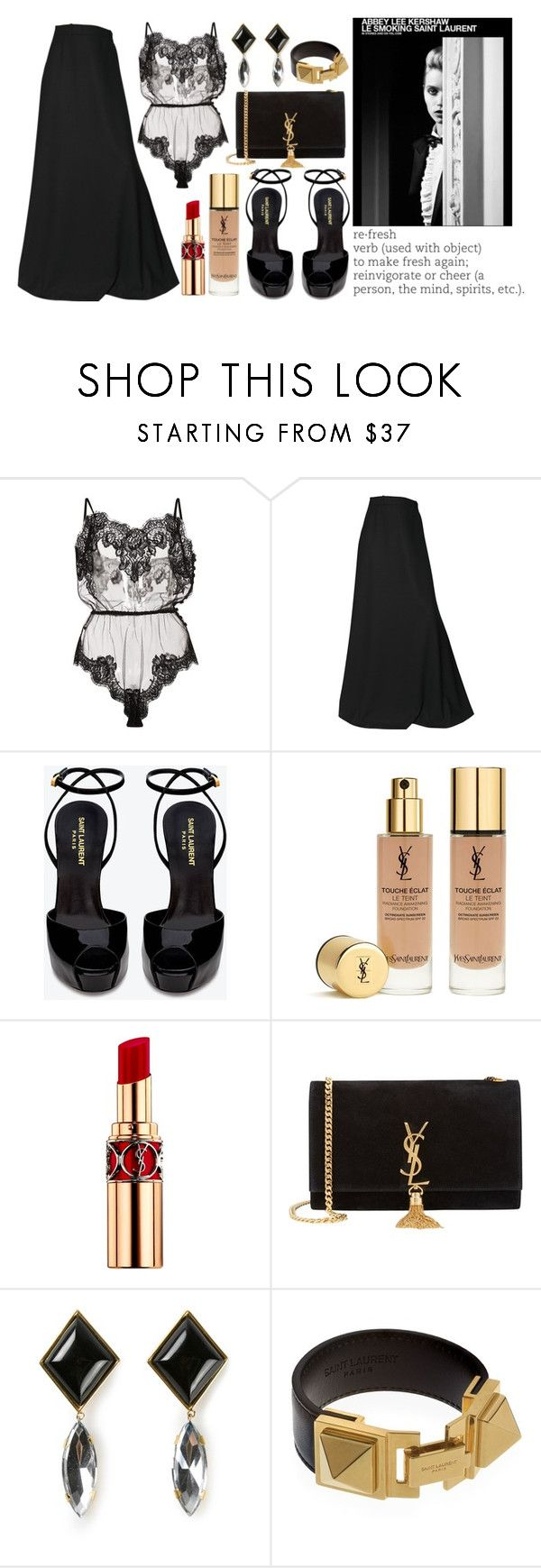 """NYE (2)"" by inesblamas ❤ liked on Polyvore featuring Rosamosario, Yves Saint Laurent, women's clothing, women, female, woman, misses and juniors"