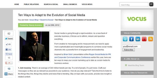 Ten Ways to Adapt to the Evolution of Social Media