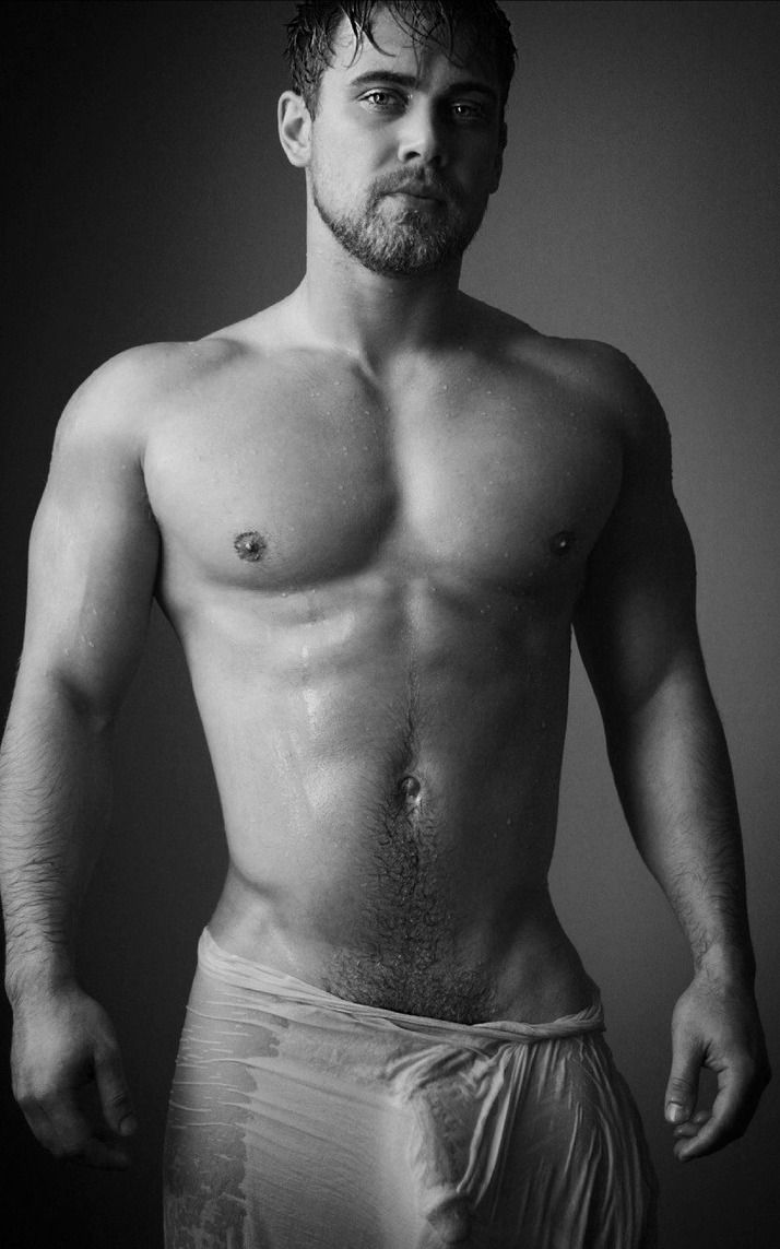 Sexy man black and white