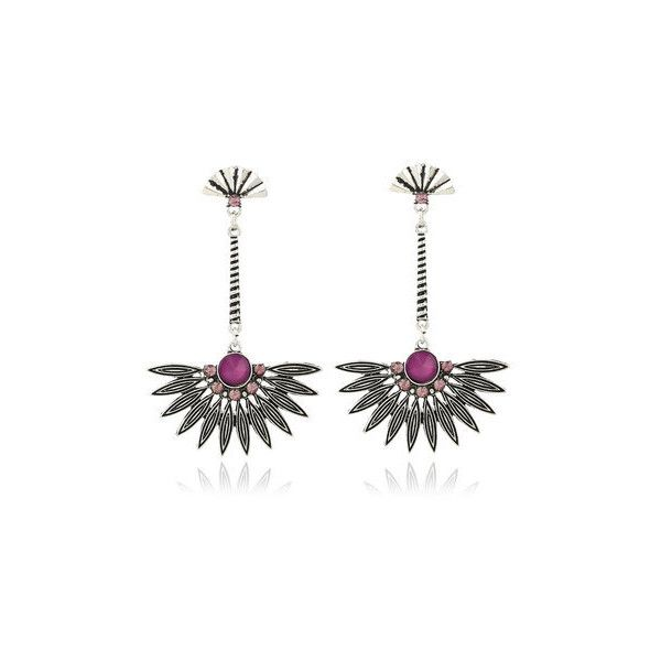 Retro Ethnic Earrings ( 6.20) ❤ liked on Polyvore featuring jewelry ... a4eb8ba1fe631