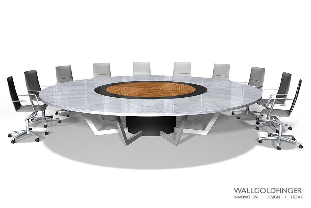 WallGoldfinger Round Boardroom Tables