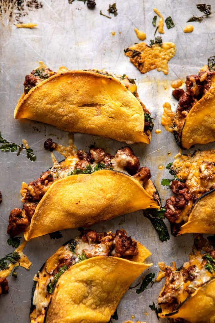 Photo of Crispy Chipotle Chicken Tacos with Cilantro Lime Ranch.