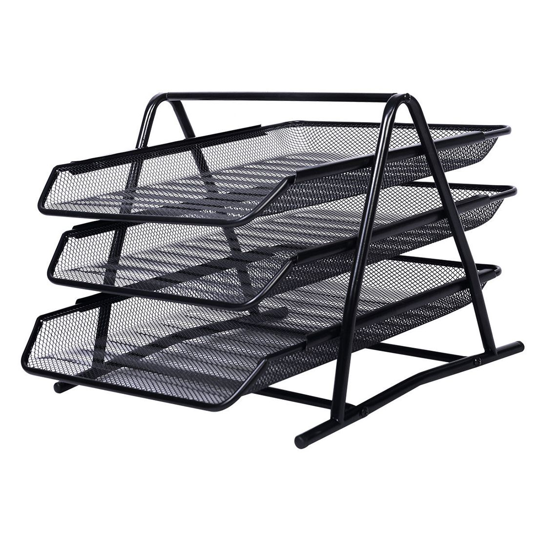 SOSW Office Filing Trays Holder A4 Document Letter Paper Wire Mesh Storage  Organiser