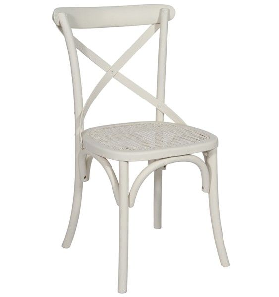 Perfect Monaco Cross Back / Bent Wood Dining Chair   White