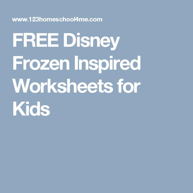 FREE Disney Frozen Inspired Worksheets for Kids