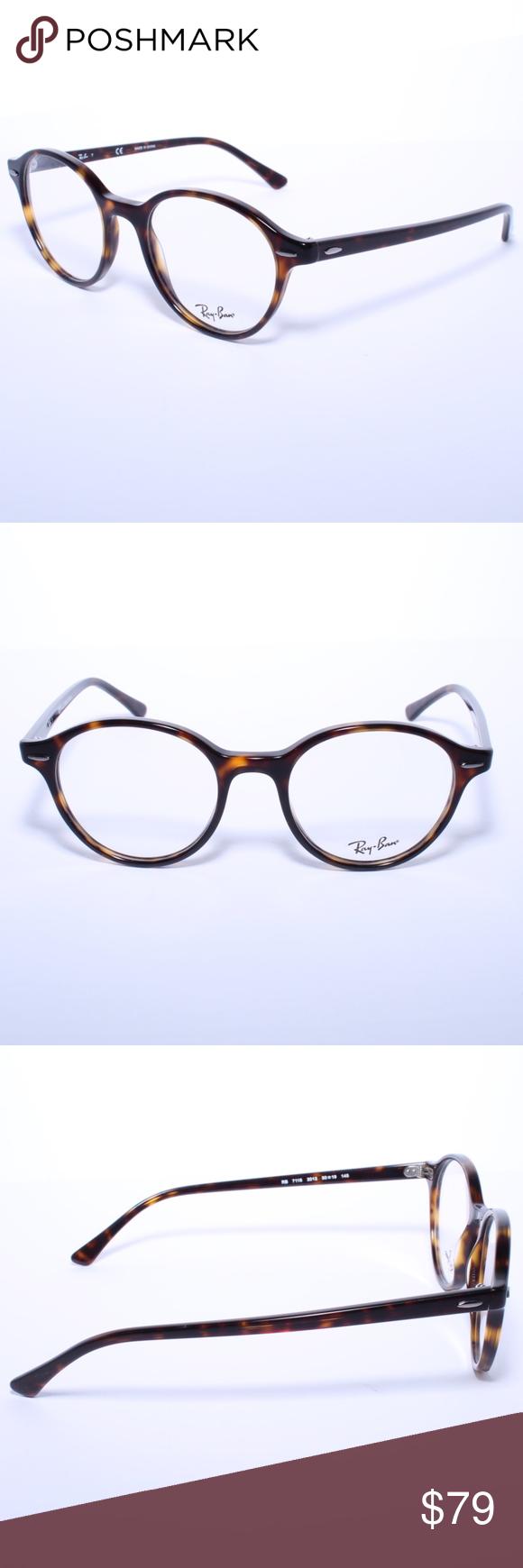 41dae0a8596b4 Ray-Ban Ray Ban RB 7118 2012 50MM Havana Rx Tortoi Ray-Ban Ray Ban RB 7118  2012 50MM Unisex Eyeglasses Havana Rx Tortoise Brand New 100% Authentic  Comes ...