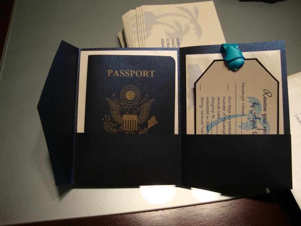 Diy passport invitations passport wedding invitations