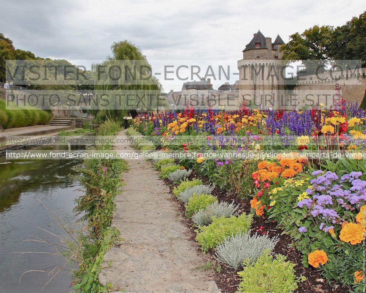 Rampart gardens, Vannes, Morbihan,Bretagne, France.France Vannes le ...
