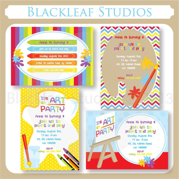 Art Party Invitations These Invitations Templates Are Perfect For - Paint party invitation template free