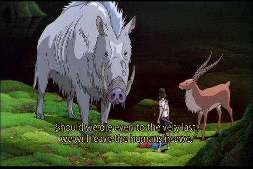 In The Movie Princess Mononoke The Guardian Spirits Of The Forest