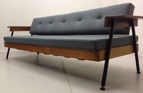 Captivating 1950s Midcentury Style Sofa Bed On EBay