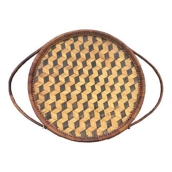 Woven Serving Tray by Narrativeoak on Etsy