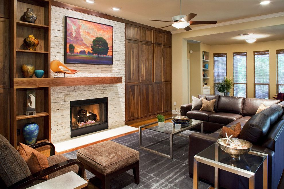Fireplace Mantel Designs Living Room Contemporary With Cabinets