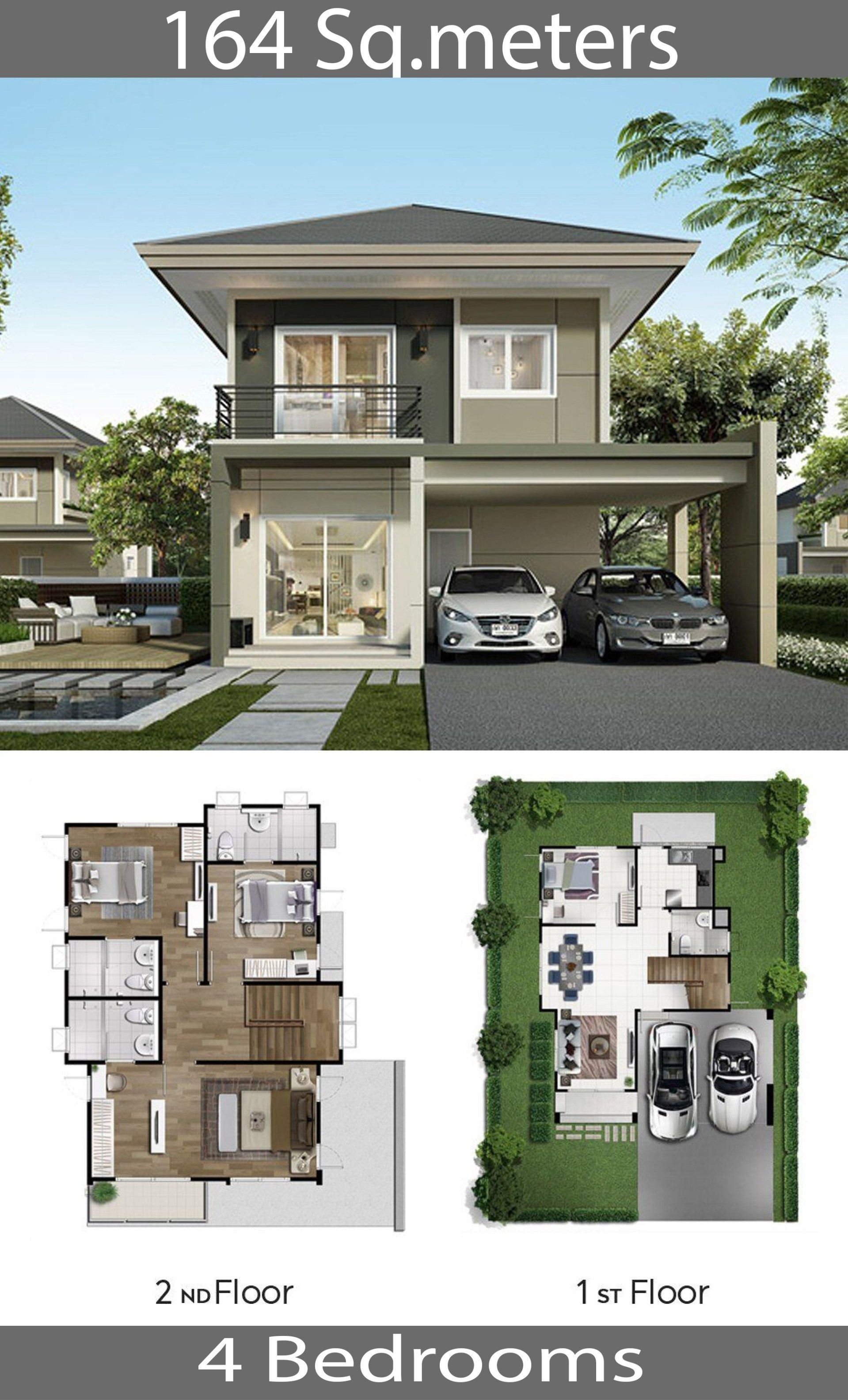2 Storey Single Detached House 164 Sq M Home Ideas House Front Design Architect Design House 2 Storey House Design