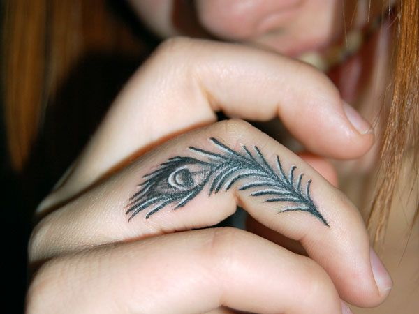 15 Gorgeous Tattoos That Fit On Your Finger Hand Tattoos For Women Small Hand Tattoos Feather Tattoo Meaning