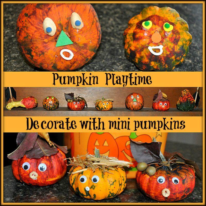halloween crafts mini pumpkin decoration