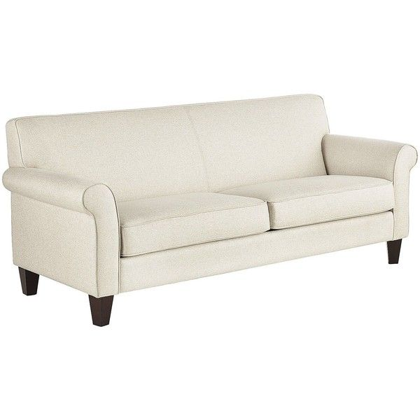 Pier 1 Imports Colby Ecru Rolled Arm Sofa 400 Liked On Polyvore Featuring Home Furniture Sofas Antique White Furniture Light Brown Couch Rolled Arm Sofa