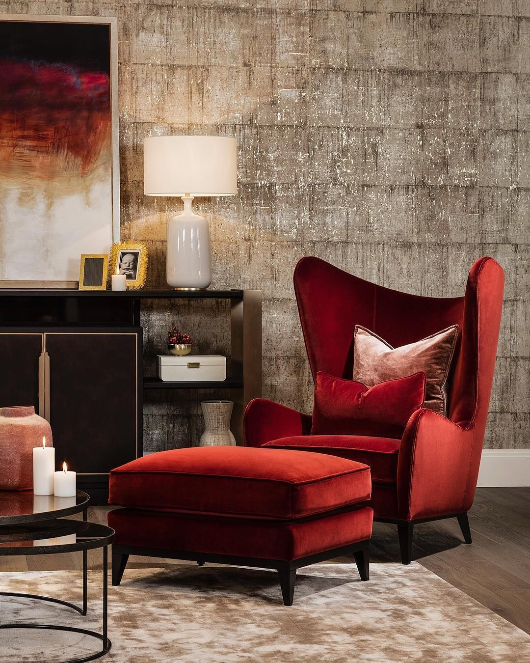 Christmas living… Our Monroe armchair features beautiful ...