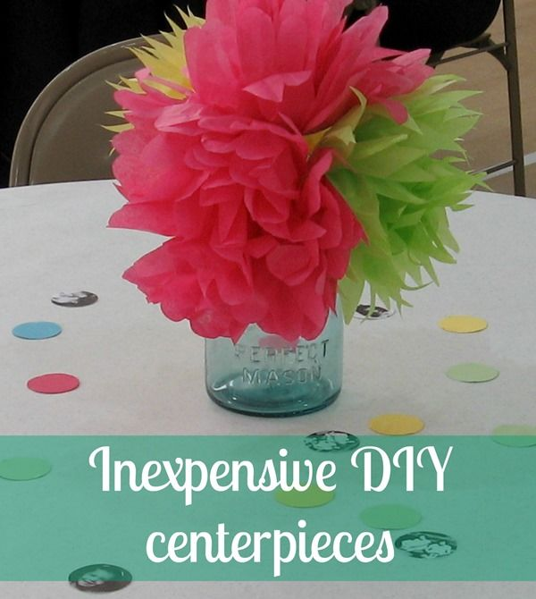 Cheap diy party centerpieces diy centerpieces party Cheap table decoration ideas