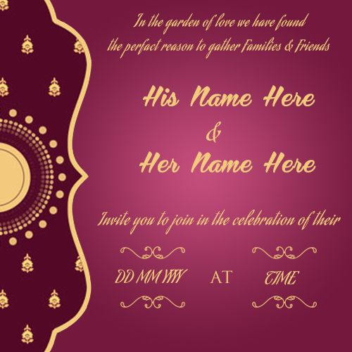 Create Wedding Invitation Card Online Free And