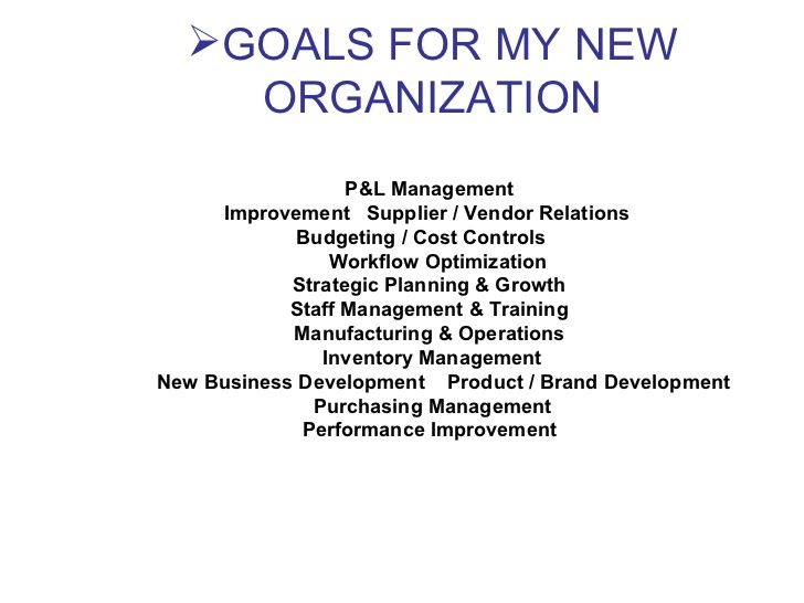 Days Plan To Meet Goals For New Organization  Getting