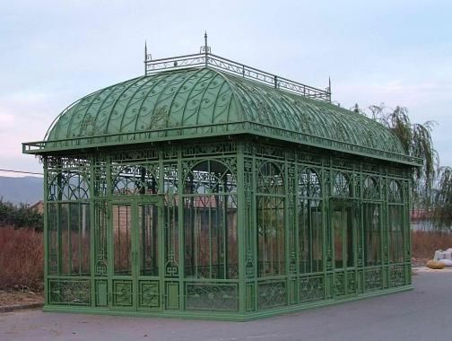 Thegatz enormous cast iron garden greenhouse for French style gazebo