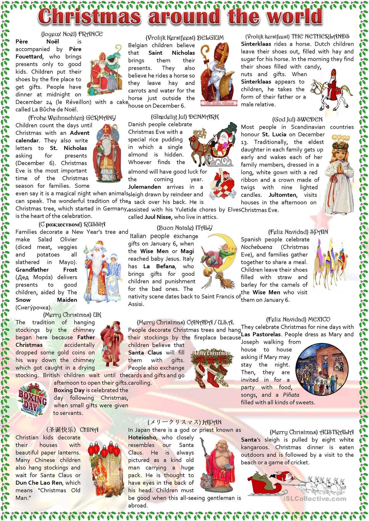 194 best Kindergarten-Christmas Around the World images on ...