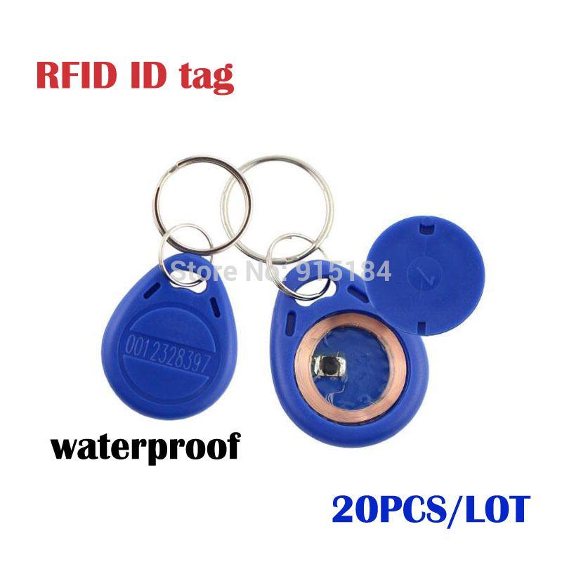20pcslot Smart Rfid 125 Khz Id Cards Key Fobs Bluetag Key Fob Entry
