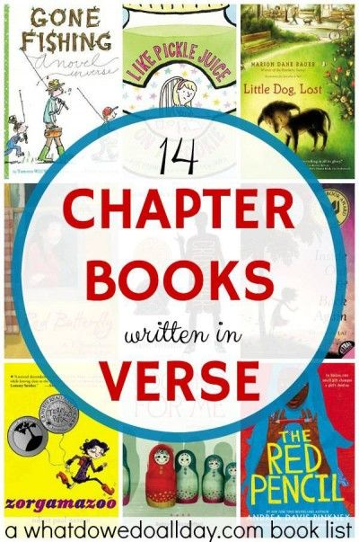 chapter books written in verse free poetry is a great style for kids to read