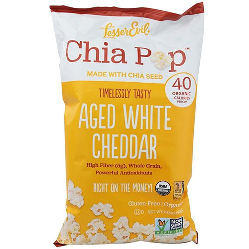 LesserEvil Chia Pop Organic Popcorn