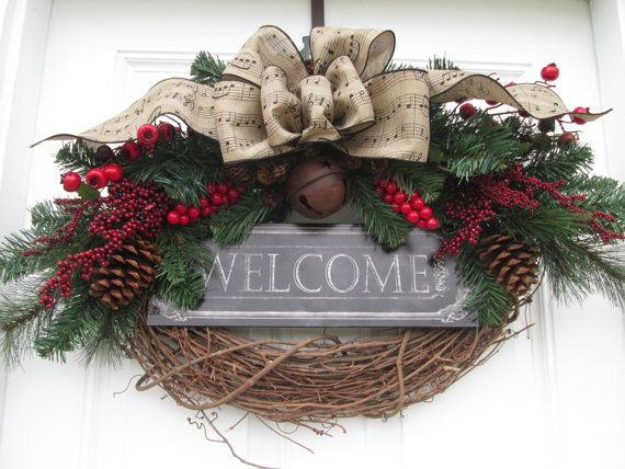 HOLIDAY WELCOME WREATH...Country Christmas by AutumnsEchoShoppe