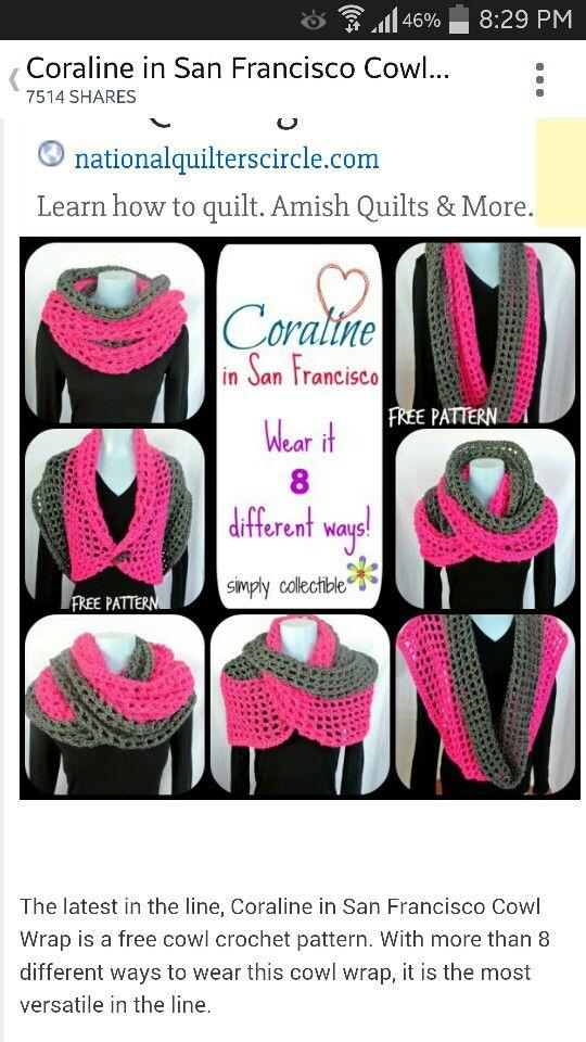 Bufanda multiusos | Crochet Shawls | Pinterest | Tejer con agujas ...