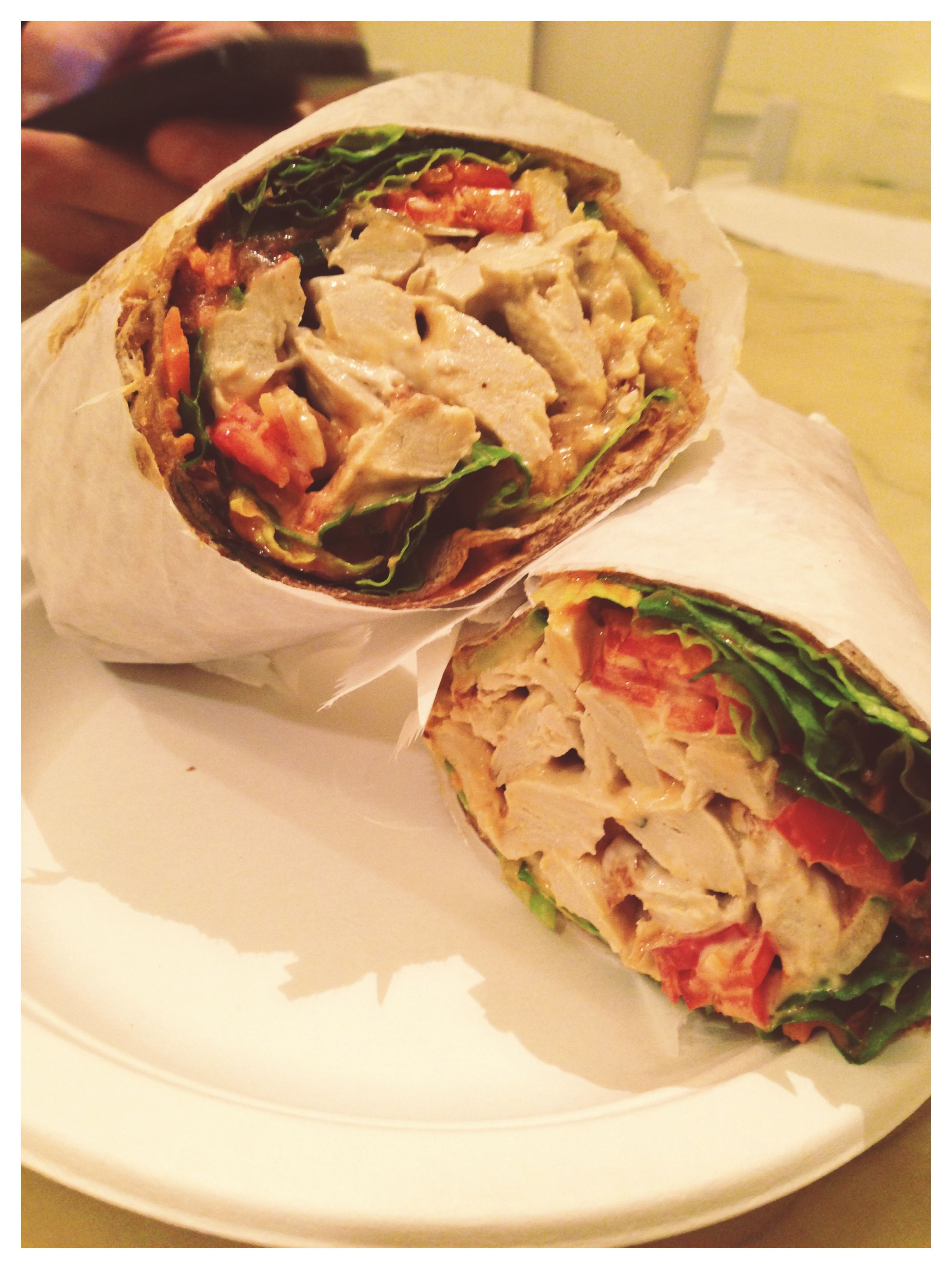 Vegan Buffalo Wrap From Loving Hut Cincinnati Ohio Restaurants