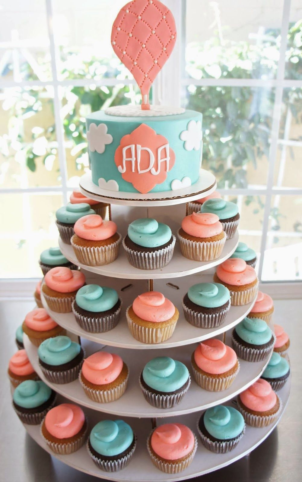 HOT AIR BALLOON CAKE & CUPCAKES TOWER by Half Baked Co. # ...