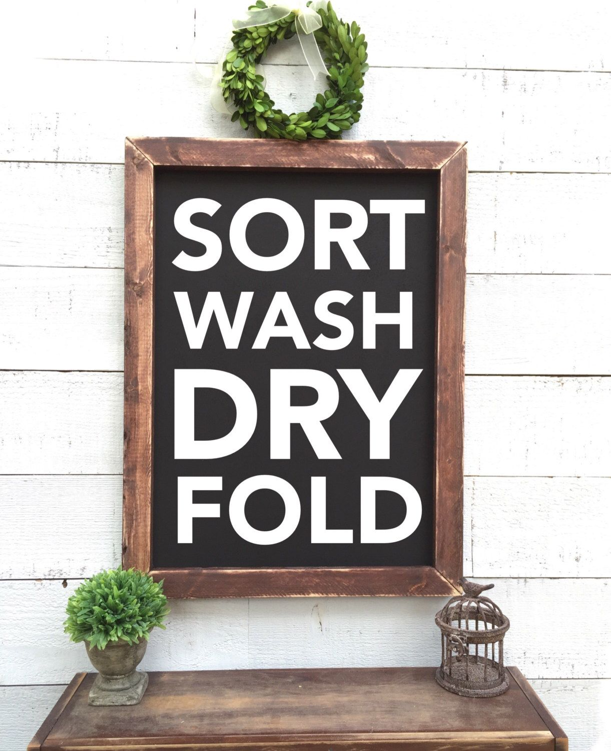 A personal favorite from my Etsy shop https://www.etsy.com/listing/484005167/vintage-laundry-chalkboard-sort-wash-dry