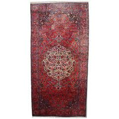 Palace Size Persian Kashan Oriental Rug, circa 1920   From a unique collection of antique and modern persian rugs at https://www.1stdibs.com/furniture/rugs-carpets/persian-rugs/