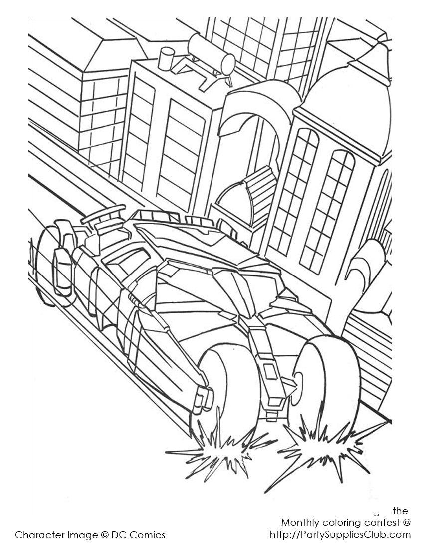 Batmobile Batman Coloring Pages Superman Coloring Pages Cars Coloring Pages