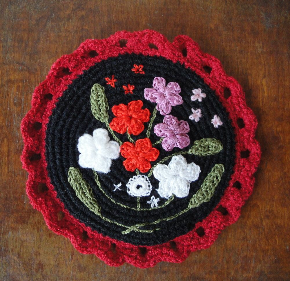 Handmade crocheted Pot Holder