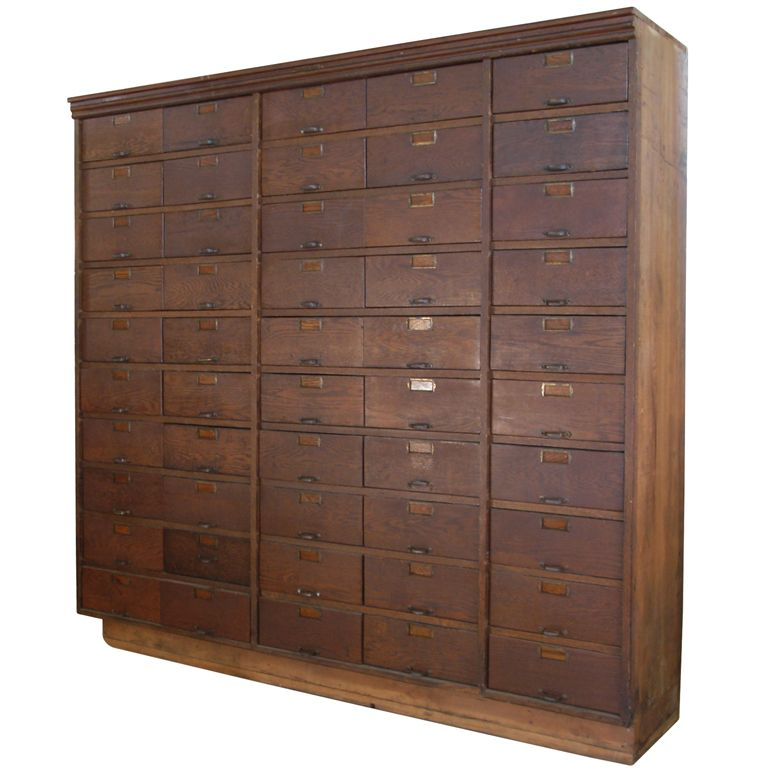 Antique Industrial 50 Drawer Apothecary Cabinet Apothecary