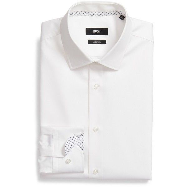 boss white dress shirt