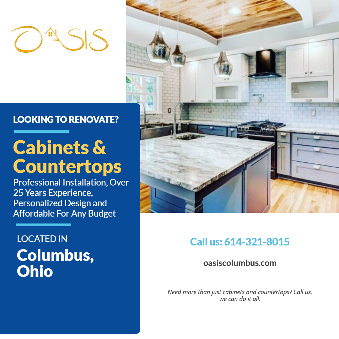 Ready To Update That Bathroom Kitchen Or Even Outdoor Kitchen In Your Home Contact Oasis Columbus To Home Renovation Cabinets And Countertops Outdoor Kitchen
