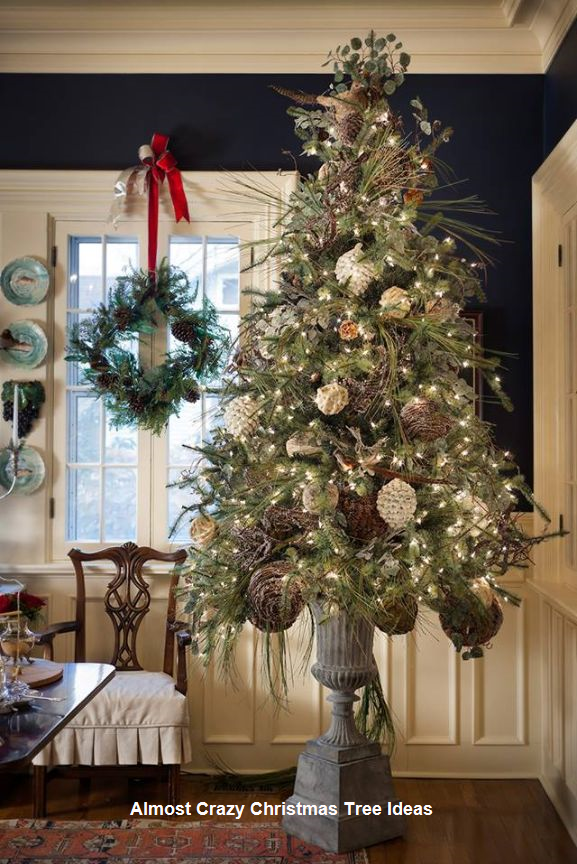 18 Almost Crazy Christmas Tree Ideas With Images Vintage Christmas Tree Decorations Christmas Decorations Christmas Tree Decorations
