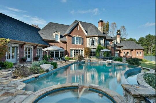The American Dream Pool Houses Mansions House