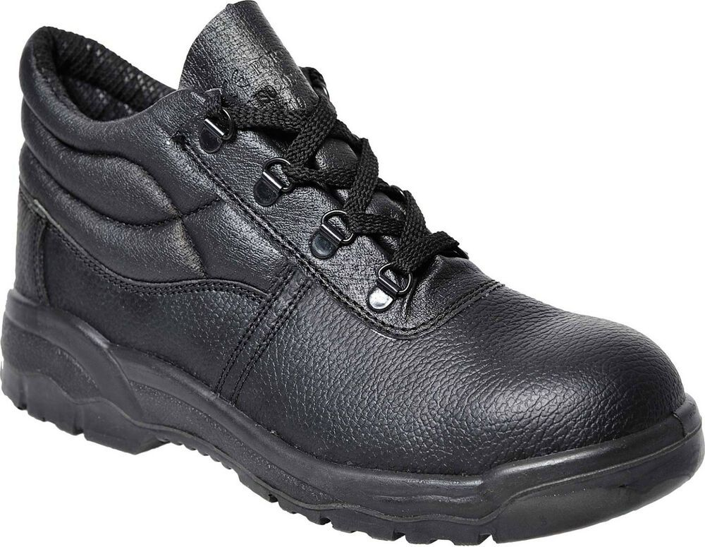Workwear Mens Safety Steel Toe Builders Midsole Boots Shoes Size 2