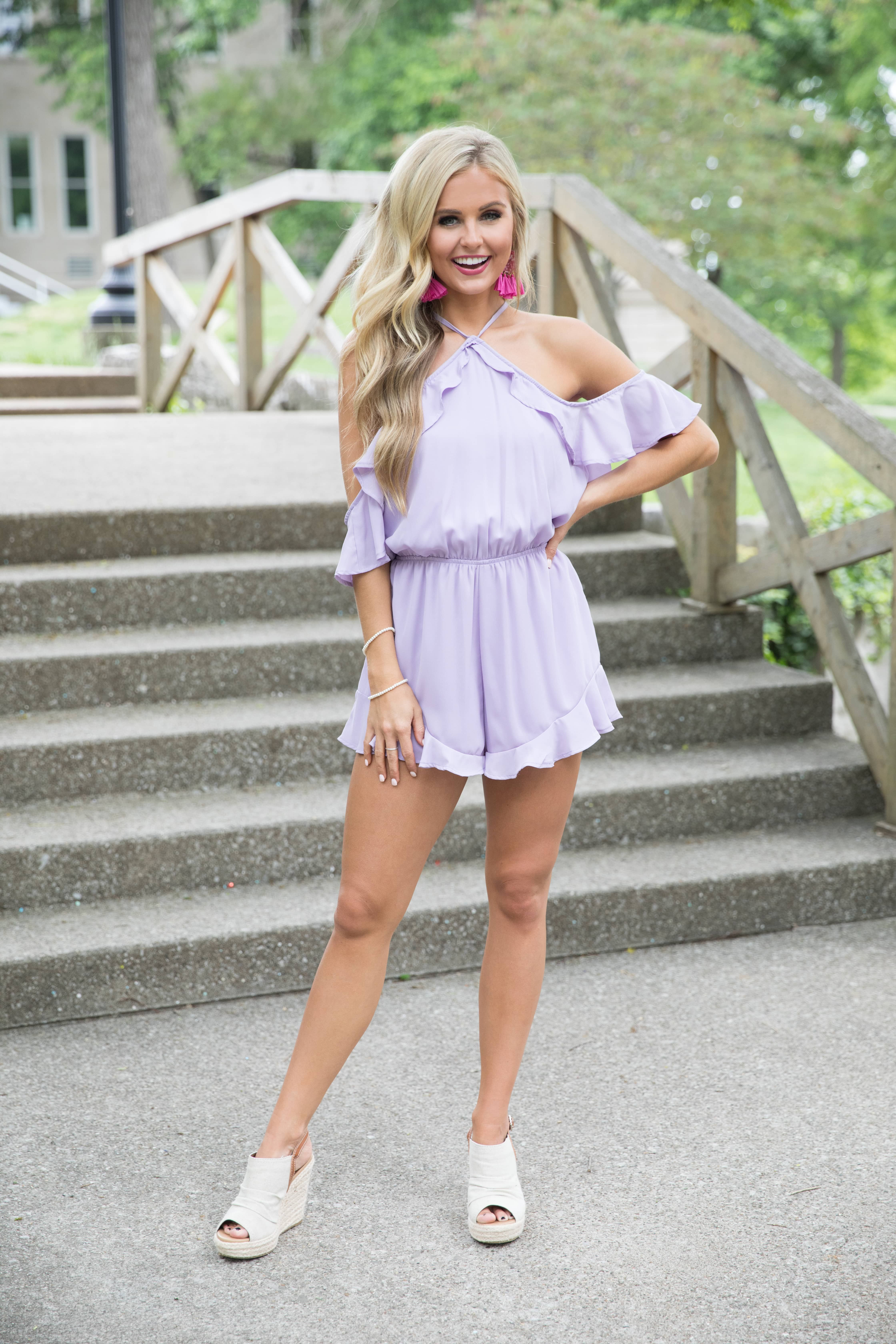 e33eeae978ff This adorable romper is such a beautifully chic way to add some bright  colors to your wardrobe this season!
