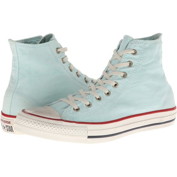 67a933ce605b Converse Chuck Taylor All Star Washed Canvas Hi Shoes ( 36) ❤ liked on  Polyvore