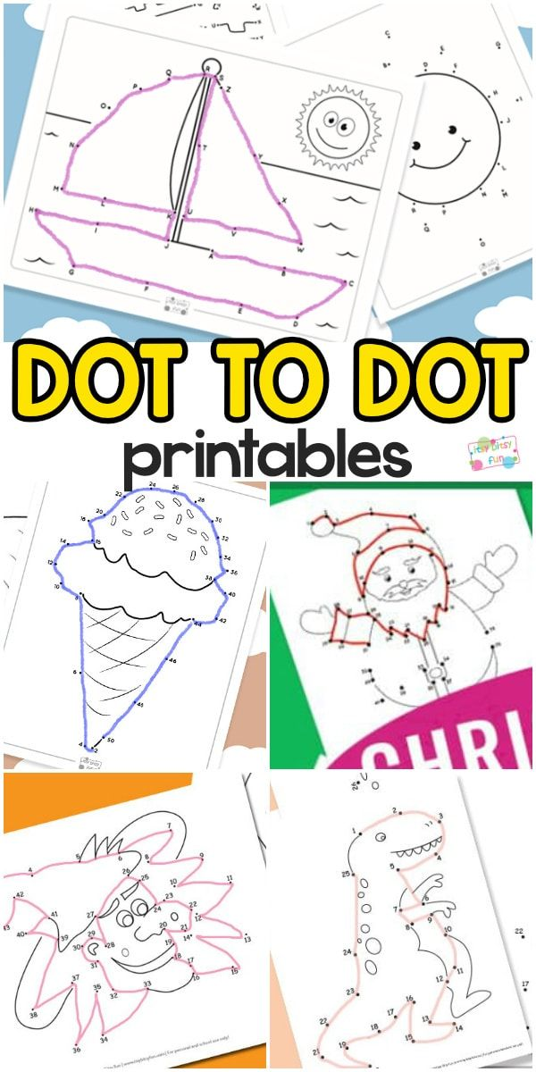 Connect The Dots Printables | Education | Pinterest | Rätsel für ...