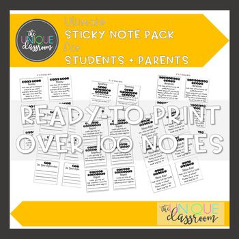 Ultimate Sticky Note Pack for Students and Parents Parents - release notes template