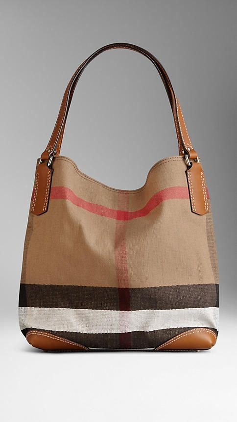 Medium Canvas Check Tote Bag   Burberry I m wanting something like this  instead of a regular diaper bag this time. a6da7961c7
