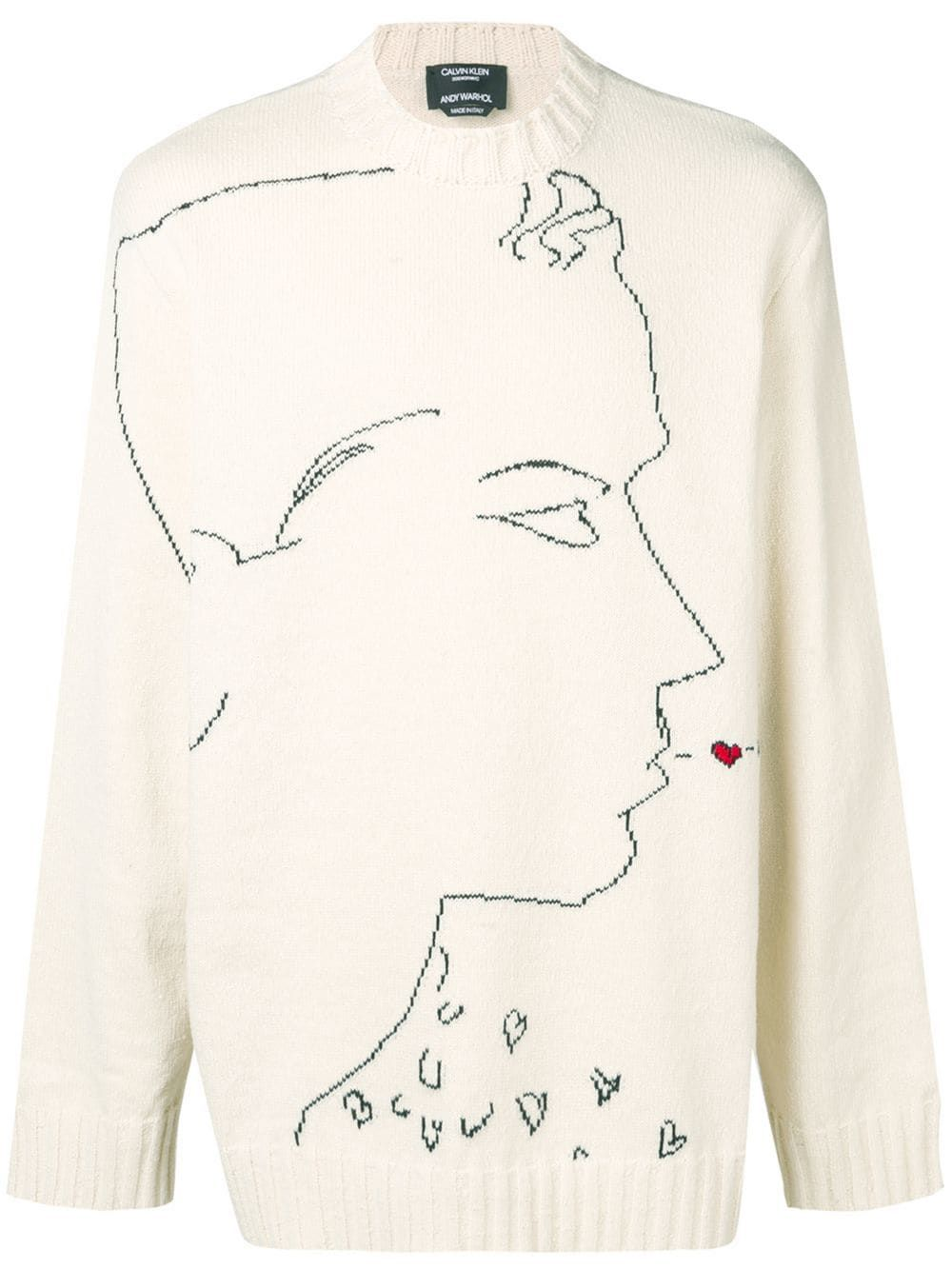 fd72edf5a Calvin Klein 205W39nyc profile print knit sweater - Neutrals in 2019 ...